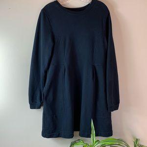 FP Beach Black Oversized Sweatshirt Dress
